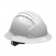 PIP - 280 - EV6161 Protective Industrial Products, High Density , Polyethylene, 6 Point Suspension , Vented, Cotton Core PH Neutral, Dermatologically Tested,White Full Brim Hard Hat,  $17.76 - Each