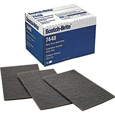 3M - 07448 Scotch Brite Ultra Fine-Grade,  Silicon Carbide, Hand Pads, Scuffing/Sanding Pads, Gray Color, Long-Lasting. 20/Pack.  -  $23.76 each.