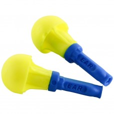 3M-318-1000 Reusable Uncorded E-A-Rform Foam Blue Stemmed Non-Rolling Easy Fit Convenient Comfortable Protective Push-In Earplugs with Poly Bag
