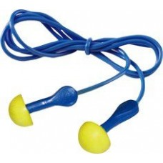 3M-318-1001 Corded ,Comfortable, Convenient, Polyurethane, Push-In Blue Stemmed Earplugs with Poly Bag,  $49.76 -  Packed/100 Pair