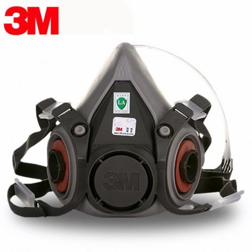 3m 6300 reusable half face mask respirator - large