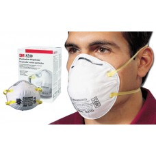 3M-8210 Disposable, Reliable,Two Strap, Particulate Respirator with Adjustable Noseclip Providing Respiratory Protection