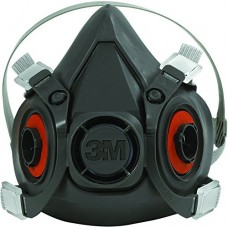 3M-6200 Half Facepiece Lightweight,  Soft,  Reusable Respirator Providing Protection against Particulates, Gases & Vapors up to 10 Times Permissible Exposure Limit (PEL),  $16.76 - Each