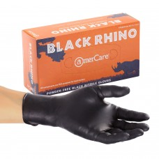 AC-6099 Amercare Latex Free Black Rhino Disposable Nitrile Powder Free Glove