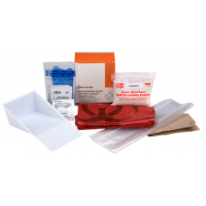 AUC - 21 - 760  First Aid Only 22-Piece Blood borne Pathogen (BBP) Spill Clean Up Pack, Disinfection & Disposal, Disposable Personal Protective Equipment, OSHA Compliant, Bio hazard Safety.  - $8.29 each.