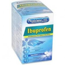 AUC - 90109-001 Physicians Care Ibuprofen Tablets, 200mg Tablets, 2 Tablets/Pack, 125 Doses/Box, 250 Tablets Total, Anti-Inflammatory, Fever Reducer, & Pain Reliever, On-The-Go Packets.  - $19.76/Box.