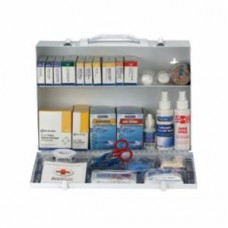 AUC - 90572 First Aid Only (2) Shelf First Aid Cabinet w/ Medications, OSHA & ANSI Compliant, Treats 75-100 People, Wall Mountable.  - $96.76 each.