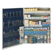 AUC - 90577 First Aid Only (5) Shelf First Aid Cabinet w/ Medications, OSHA & ANSI Compliant, Treats 200+ People, Steel Case, Wall Mountable.  - $299.76 each.