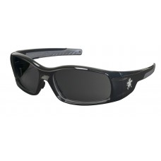 CRS - SR - 112Z Crews Swagger® SR1 Safety Glasses, Non-Slip Soft Temple,  Black Frame, Gray Polarized Polycarbonate Scratch-Resistant Lens, U.V. Protection.  - $29.76/pair.