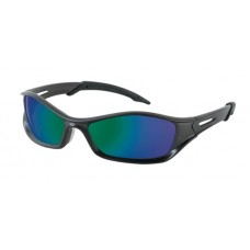 CRS - TB11G Crews 'Tribal' Emerald Mirror w/ Graphite Polycarbonate Frame Safety Glasses, Lightweight & Durable, Exclusive Duramass  Scratch Resistan. Technology, High Velocity Impact Resistant.  - $7.96 each.
