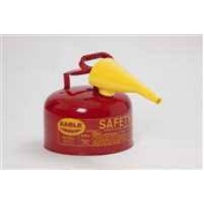 """E-UI-25-FS Eagle 24  2.5 Gallon Type 1 Safety Can with 10"""" F-15 Yellow Funnel & Non-Sparking Brass Pour Spout"""