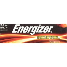 EN - AA BAT Energizer, AA Industrial, Alkaline Batteries, LR06 Pack, 7-year Shelf Life, Designed for Heavy/Continuous Use, No Mercury Added, No Special Disposal Required, 24/Box.  - $11.26 each.