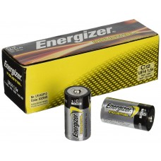 EN - C BAT Energizer, C Industrial, Alkaline Batteries, 7-year Shelf Life, Designed for Heavy/Continuous Use, No Mercury Added, No Special Disposal Required, 12/Pack.  - $11.26 each.