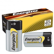 EN - D BAT, Energizer D, Industrial, Alkaline Batteries, 7-year Shelf Life, Designed for Heavy/Continuous Use, No Mercury Added, No Special Disposal Required, LR20 Pack, 12/Box.  - $14.26 each.