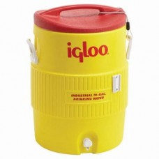 IGLOO - 4101, 10 Gallon Yellow & Red Ultratherm Insulated Industrial Water Cooler with UV Stabilizer to Prevent Fading & Cracking in all Exposures  - $69.76 each.