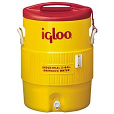 IGLOO-451- 5  GallonYellow & Red Ultratherm Insulated Industrial Water Cooler with UV Stabilizers to Prevent Fading & Cracking in all Exposures