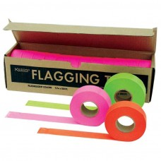 KES - FTGO 006-809 Keson Neon Orange Glo PVC 4 Mil. Flagging Tape, $19.36 - Packed/12 rolls per box