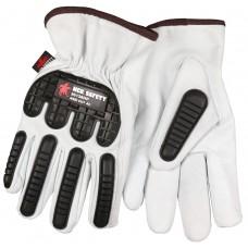 MEM - 36136 - HP MCR Welding Gloves, Select Grain Flexible Goatskin Leather w/ Hypermax™ Liner, TPR Back of Hand ANSI Impact Level 1 Protection,  Puncture & Impact Level 3, Keystone Thumb.  - $189.76/Dozen.