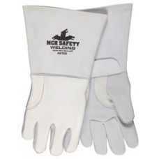 "MEM - 49750 Pearl Gray Grain Elkskin Cotton / Foam Lined Back Sewn w/ DuPont™ Kevlar® Welding Gloves, 5"" Cuff, Drag Patch for Additional Heat & Abrasion Protection.  - $298.76/Dozen."