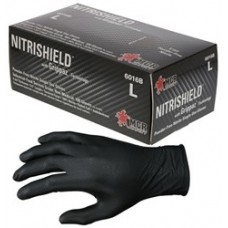 MEM - 6016B Memphis NitriShield® with Grippaz™ Technology, Fish Scale Grip, Black Nitrile Gloves, Single-Use, Industrial/Food Grade, Powder-Free, 6 mil, 9.5 inch, Unsurpassed Grip/Durability, 1,000 Gloves/Case.  - $99.76/Case.
