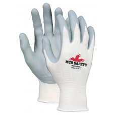 MEM - 9673GW - 2X Memphis™, 13 Gauge White Nylon Shell, Gray Nitrile Foam Palm & Fingers Safety Glove, Multi-Industrial Applications, Durable & Comfortable, 12 pairs/pack.  - $21.48 each.