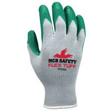 MEM - FT350 - M- Memphis FlexTuff® Nitrile 10 Gauge Cotton/Polyester Gloves, Green Nitrile Dipped Palm & Fingertips, Abrasion Resistant, Durable & Comfortable, 12 Pairs/Pack.  - $29.76 each.