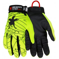 MEM - ML300A Memphis Safety Multi-Task Gloves,  ANSI Cut Level 9,  ANSI Puncture Level 4, Black Synthetic Leather Palm/Fingers, Alycore Lined, Cut/Puncture/Needle Stick Protection, Hi-VIZ Lime Green.  - $39.76 per pair.