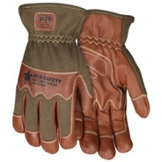 "MEM - MU3624 - FR MCR Mustang Utility Driver/Welding Gloves, 2.5"" Cuff, Grain Goat w/ Double Palm DuPont™ Kevlar® Lined & Sewn Nomex® Back w/ Wing Thumb, Arc Rating of 24.7 Cal/cm2.  - $35.76/Pair."