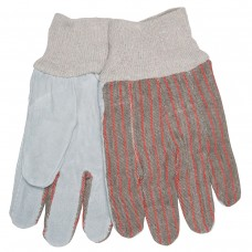 MEM - 1030 L  Split Leather Cow Skin Palm, Comfortable Clute Style, Unlined, Straight Thumb, Knit Wrist, Economical Cotton Backed Glove,  $15.76 - Per Dozen.