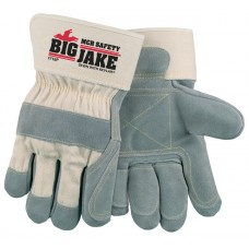 MEM - 1710 - L   M.C.R. Fleece Lined Heavy Select Chrome Tanned Big  Jake Leather Palm Glove sewn with Super-Strong Heat Resistant Dupont Kevlar Thread, $107.76 - Per Dozen