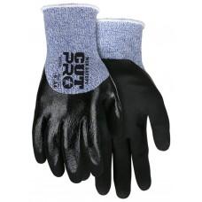 MEM - 92753 L - M.C.R. Cut Protection, 13 Gauge Blue & White Hypermax Shell, Flat Nitrile Knuckle Dipped Coating, Water/Oil Resistant, Excellent Grip,  Cut & Abrasion Resistant,  $ 89.76 - Per Dozen