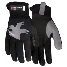 MEM - 950 L -  M. C. R. Multi-Task Safety  Unlined Glove, Comfortable, Greater Flexibility, Elastic, Cuff, Touch Screen Friendly, Reinforced Thumb Crotch, Slip on Cuff, Machine Washable, Reflective Logo on Back,  $ 8.76 - Per Pair