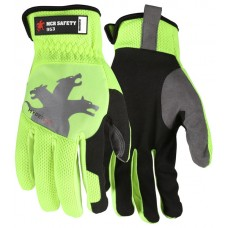 MEM - 953 Memphis Machine Washable Touch Screen Friendly  Flexible  Synthetic Leather Palm Elastic Cuff Safety Multi-Task Glove with Super Stretch Knuckle Region , $8.76 - Per Pair