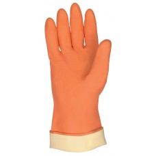 MEM - 5430 Memphis Seamless Flexible Waterproof 28 Mil. Flock Lined Orange Neoprene/Latex Glove with Embossed Finger & Palm Grip, $18.76 - Per Dozen.