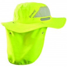OCCU - TD600 Occunomix Wicking & Cooling Ranger Hat w/ Neck Shade, High Visibility,  Lime Green, Mesh Panel for Extreme Breathability -$13.86 each.