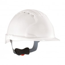 PIP - 280 - EV6151 White Full-Brim Hard Hat, 6-Point Suspension, High-Density Polyethylene, Cap Style, Vented, Class E, Made in USA.  -$14.76 each.