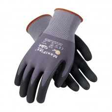 PIP - 34 - 874 - 3X Protective Industrial Products MaxiFlex® Ultimate™ Seamless Knit Nylon / Lycra 15 G Glove w/ Gray/Black Nitrile Coated MicroFoam Grip on Palm & Fingers, Abrasion Resistant, Breathable, 12 pair/pack - $53.76 each.