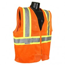 RAD - SV22 - 2ZOM Radians Safety Vest, HI-VIZ Orange Polyester Mesh Vest, Two Tone Stripe, Type R Class 2 Safety Vest, Front Zipper Closure, Lightweight, Breathable, & Durable.  -$ 10.96 each.