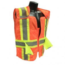 RAD - SV24 - 2ZOM Radians HI-VIZ Orange Polyester Mesh Break-a-Way Safety Vest, Two Tone, Zip-N-Rip Closure, Adjustable Sides, Type R, Class 2 Safety, Lightweight, Breathable, & Durable.  -$16.76 each.