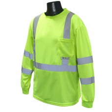RAD - ST21 Radians Hi-Viz Green,  Class 3 , 100% Polyester, Comfortable, Lightweight, Long Sleeved T-Shirt made with Maxi-Dri Moisture Wicking Birds-Eye Mesh Technology, $15.76 - Each