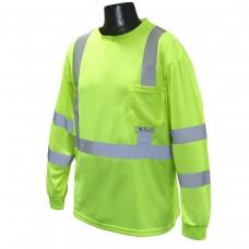 RAD - ST21 Radians Hi-Viz Green,  Class 3 , 100% Polyester, Comfortable, Lightweight, Long Sleeved T-Shirt made with Maxi-Dri Moisture Wicking Birds-Eye Mesh Technology, $15.76 - Each