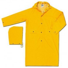 RIV - 230C River City Industry Grade, Yellow, Rounded Collar, PVC/Polyester, 2 Piece Rainwear with Detachable Hood & Ventilated Back & Underarms,  $7.96 - Each