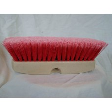 "VB - 214 - 10 Red 10"" Acid Vehicle Wash Brush, Medium-Soft Flagged Synthetic Brush, Resistant to Acids, Alcohols, & Water-based Solutions, 175°F Heat Distortion, Great for Heavy Duty Scrubbing.  - $13.46 each."