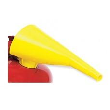 F-15 Ten Inch Durable Self-Locking High Density Polyethylene Yellow Eagle Funnel for Transferring Flammable Liquids,  $4.76 - Each