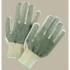 MEM - 9668 Memphis Glove,  Cool, Comfortable, With PVC Dots for More Abrasion Resistance, Cotton, Poly 7 Gauge String Knit  with Color Coded Hem,  $6.86 - Per Dozen