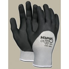 MEM - 96781 Memphis  Comfortable, Knit Wrist, Black Nitrile Foam, Dipped Glove with Seamless 13 Gauge Gray Nylon Shell, $24.26 - Per Dozen