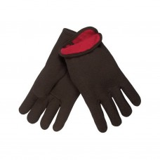 MEM -  7900 Memphis Slip-on, Comfortable, Warm, Red Fleece Lined, Brown, Jersey Glove with Straight Thumb.  -  $18.76/Per Dozen.