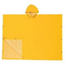 "RIV- 2000 River City Heavy Duty, 40"" Long, PVC/Polyester, Schooner II Poncho with Attached Hood & Side Snap Closures,  $9.76 - Each"