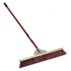 """SEY - MID -82624 Seymour-Midwest Red 24"""" Heavy Duty Garage Style Broom with 60"""" Powder Coated Aluminum Handle & Super Strong Gusset Bracing,  $49.76 - Each"""